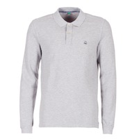 material Men long-sleeved polo shirts Benetton MAGES Grey / Mottled