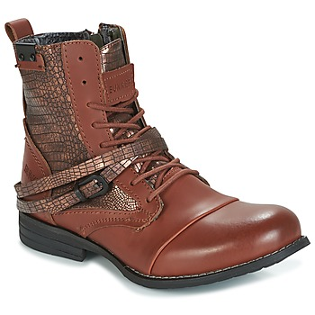 Shoes Women Mid boots Bunker SARA Cognac