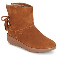 Shoes Women Ankle boots FitFlop MUKLUK SHORTY II BOOTS  WITH TASSELS Chestnut