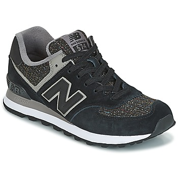 Shoes Women Low top trainers New Balance WL574 Black