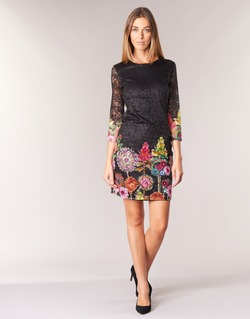 material Women Short Dresses Desigual GRAFI Black