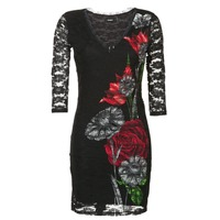 material Women Short Dresses Desigual GRAFE Black