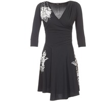 material Women Short Dresses Desigual GRAFU Black