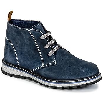 Shoes Boy Mid boots Citrouille et Compagnie HISEO Marine