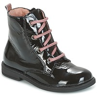 Shoes Children Mid boots Citrouille et Compagnie HEMANU Black / Pink