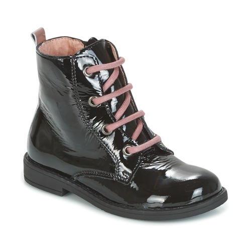 Shoes Girl Mid boots Citrouille et Compagnie HEMANU Black / Pink