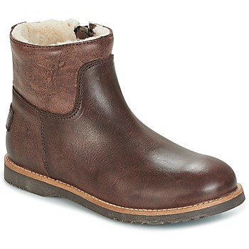 Shoes Girl Mid boots Shabbies LOW STITCHDOWN LINED Brown