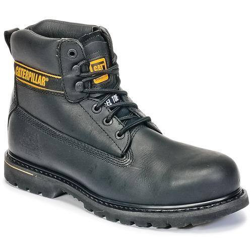 Shoes Men Mid boots Caterpillar HOLTON ST SB Black