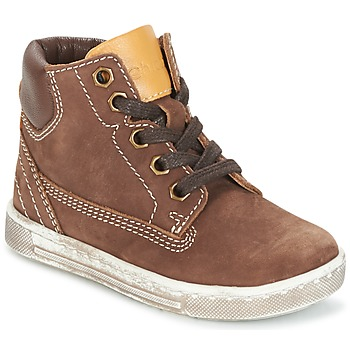 Shoes Boy High top trainers Chicco CLOVER Brown