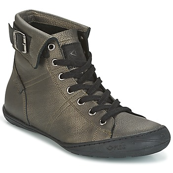 Shoes Women High top trainers PLDM by Palladium GLADYS DST Grey / Gold