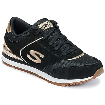 Shoes Women Low top trainers Skechers SUNLITE Black / Gold