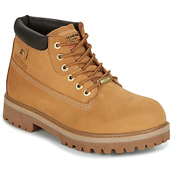 Shoes Men Mid boots Skechers SERGEANTS Camel