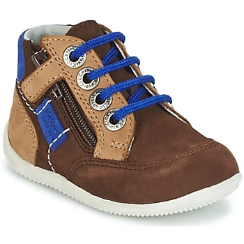 Shoes Boy Mid boots Kickers BARTIN Brown / Dark / Beige / Blue