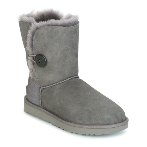 Shoes Women Mid boots UGG BAILEY BUTTON II Grey
