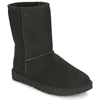 Shoes Women Mid boots UGG CLASSIC SHORT II Black