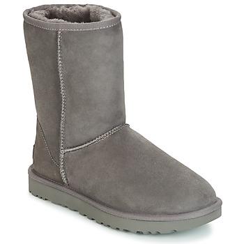 Shoes Women Mid boots UGG CLASSIC SHORT II Grey