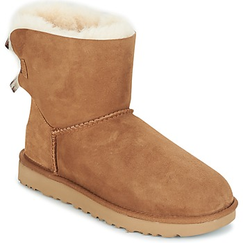 Shoes Women Mid boots UGG MINI BAILEY BOW II Camel