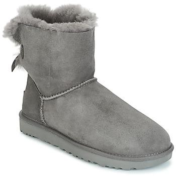 Shoes Women Mid boots UGG MINI BAILEY BOW II Grey