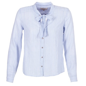 material Women Shirts Cream CAMA STRIPED SHIRT Blue