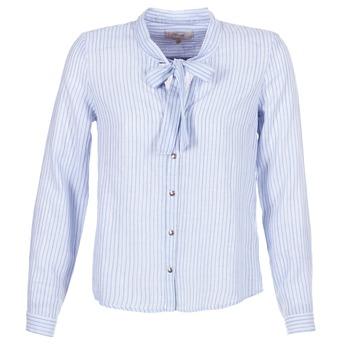 material Women Shirts Cream CAMA STRIPED SHIRT Blue