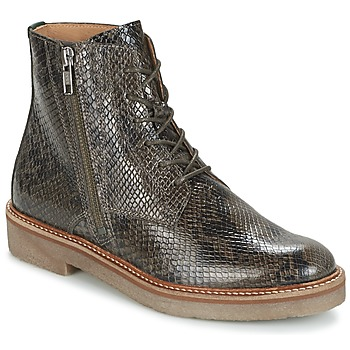 Shoes Women Mid boots Kickers OXFOTO Grey / Python
