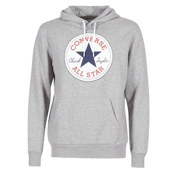 material Men sweatpants Converse CORE GRAPHIC PULLOVER HOODIE Grey