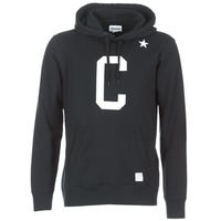 material Men sweatpants Converse CONVERSE ESSENTIALS COLLEGIATE STAR PULLOVER HOODIE Black
