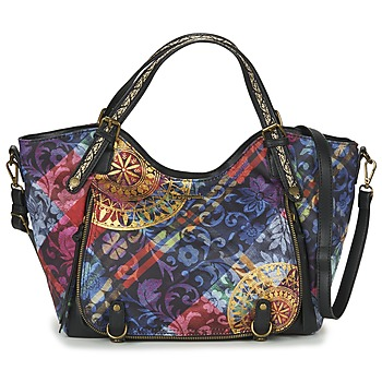 Bags Women Handbags Desigual BOLS_ROTTERDAM TRANSFLORES Black / Multicoloured