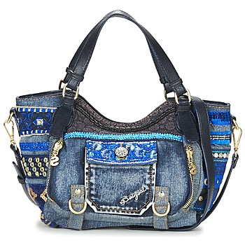 Bags Women Shoulder bags Desigual BOLS_ROTTERDAM MINI EXT.EXOTIC Black / DENIM