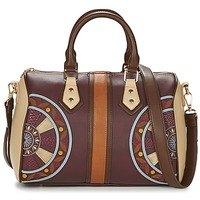 Bags Women Shoulder bags Desigual BOLS_BOWLING CELIA Brown / Bordeaux