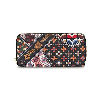 Bags Women Wallets Desigual MONE_MARIA RETRO FRESH Black / Multicoloured