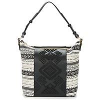 Bags Women Shoulder bags Desigual BOLS_LILA ASTÚN Black / Cream