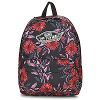 Bags Women Rucksacks Vans REALM BACKPACK Black / Multicoloured