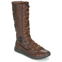 Shoes Women Boots Pataugas JINA Brown