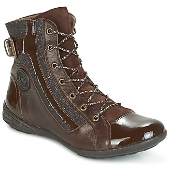 Shoes Women High top trainers Pataugas NOUR Brown