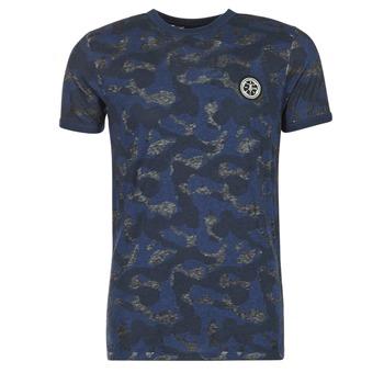 material Men short-sleeved t-shirts Le Temps des Cerises CAMOSTORK Marine