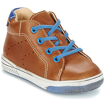 Shoes Boy High top trainers Babybotte ANKARA Camel