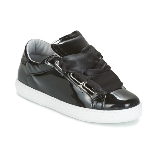 New Trendy Yurban Hourix Low Top Trainers Black For Women Outlet UK