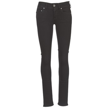 material Women straight jeans G-Star Raw MIDGE SADDLE MID STRAIGHT Black