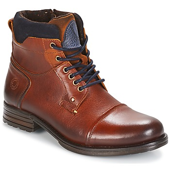 Shoes Men Mid boots Coxx Borba AGOZ CAMEL / Blue
