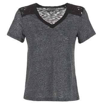 material Women short-sleeved t-shirts Casual Attitude HINE Grey
