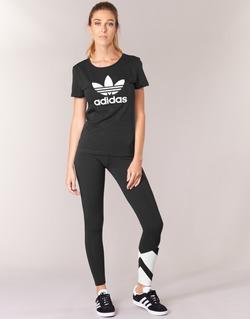 material Women leggings adidas Originals EQT LEGGINGS Black / White