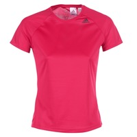 material Women short-sleeved t-shirts adidas Performance D2M TEE LOSE Pink