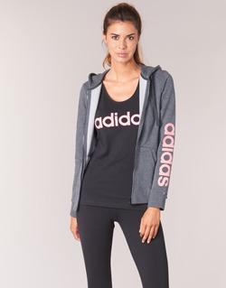 material Women sweatpants adidas Performance ESS LIN FZ HD Grey