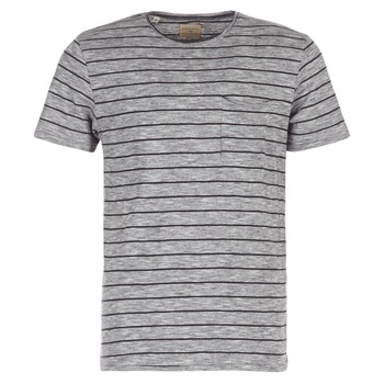 material Men short-sleeved t-shirts Selected FINN Grey / Black