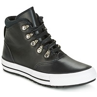 Shoes Women High top trainers Converse CHUCK TAYLOR ALL STAR EMBER BOOT SMOOTH LEATHER HI BLACK/BLACK/W Black / White