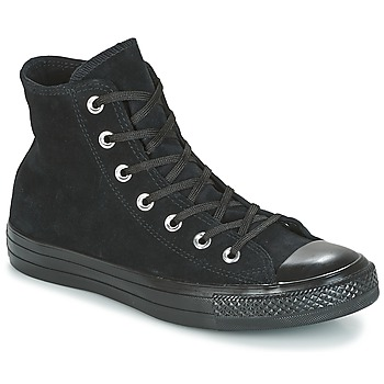Shoes Women High top trainers Converse CHUCK TAYLOR ALL STAR MONO PLUSH SUEDE HI BLACK/BLACK/BLACK Black