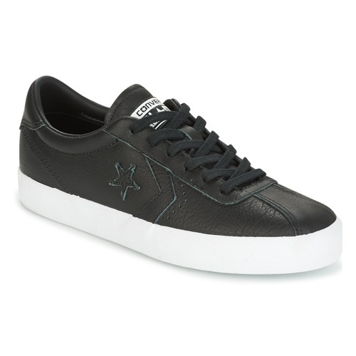 Shoes Women Low top trainers Converse BREAKPOINT FOUNDATIONAL LEATHER OX BLACK/BLACK/WHITE Black / White