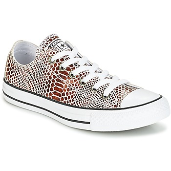 Shoes Women Low top trainers Converse CHUCK TAYLOR ALL STAR FASHION SNAKE OX BROWN/BLACK/WHITE Black / White