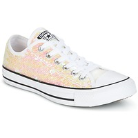 Shoes Women Low top trainers Converse CHUCK TAYLOR ALL STAR SEQUINS OX WHITE/BLACK/WHITE White / Glitter